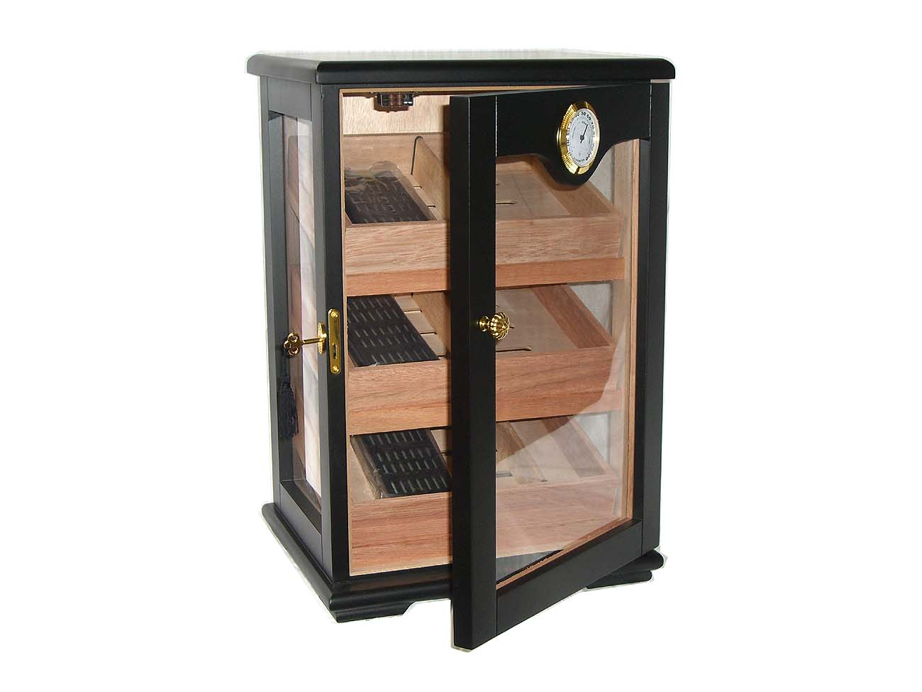 humidor schrank vitrine in schwarz lifestyle topshop. Black Bedroom Furniture Sets. Home Design Ideas